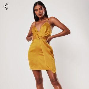 Yellow/Gold Satin Dress